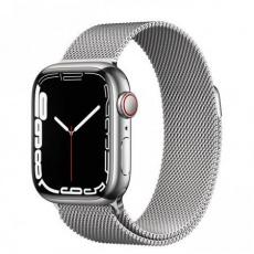 Apple Watch Series 7 Cell, 41mm Silver/Steel/Silver Mil.Loop