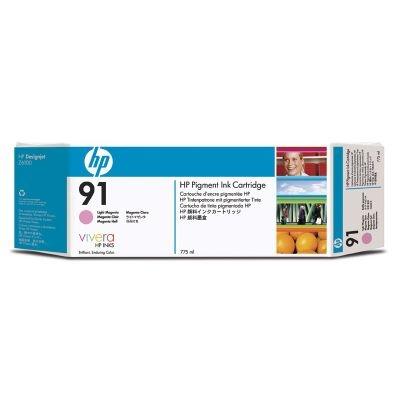 HP 91 Lignt Magenta DJ Ink Cart, 775 ml, 3-pack, C9487A