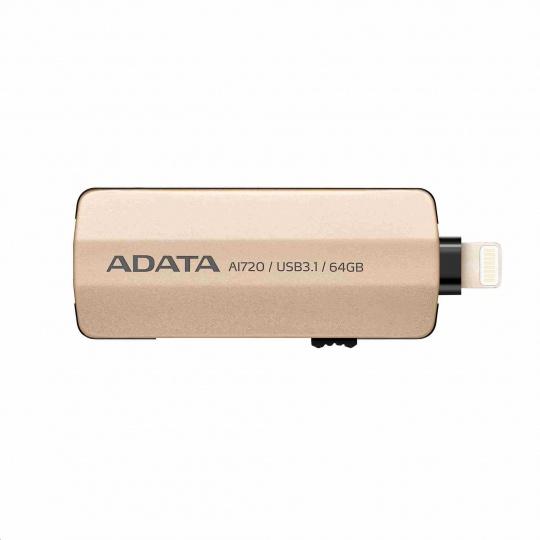 ADATA i-Memory AI720 Flash 32GB USB 3.1, Apple OTG (micro USB), zlatá
