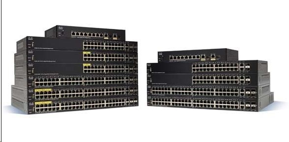 Cisco switch SF350-48, 48x10/100, 2xSFP, 2xGbE SFP/RJ-45