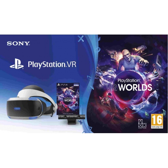 SONY PS4 VR headset + Kamera + VR WORLDS (PSN voucher)