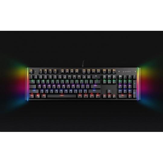 GEMBIRD klávesnice B-UMW-01, herní, optické spínače, USB, drátová, RGB, US layout