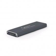 GEMBIRD externí box pro M.2 disky, USB 3.0, hliník, černá