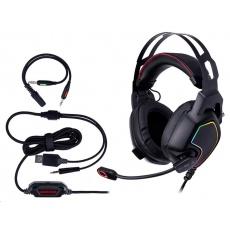 TRACER herní sluchátka s mikrofonem GAMEZONE Raptor V2, plná, černá