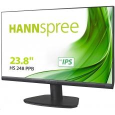 "Hannspree HS248PPB, 23,8"" LCD monitor, full HD 1920x1080, 16:9, HDMI, DP, VGA"