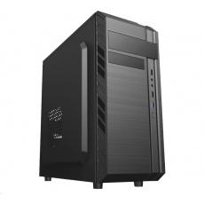 EUROCASE skříň ML X501 EVO black, 1x USB 3.0, 2x USB 2.0, audio, bez zdroje