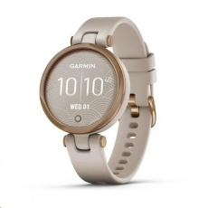 Garmin hodinky Lily Sport Rose Gold/Light Sand Silicone Band