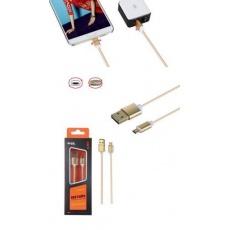 PLUS datový a nabíjecí kabel K3371, konektor micro USB oboustranný, zlatá