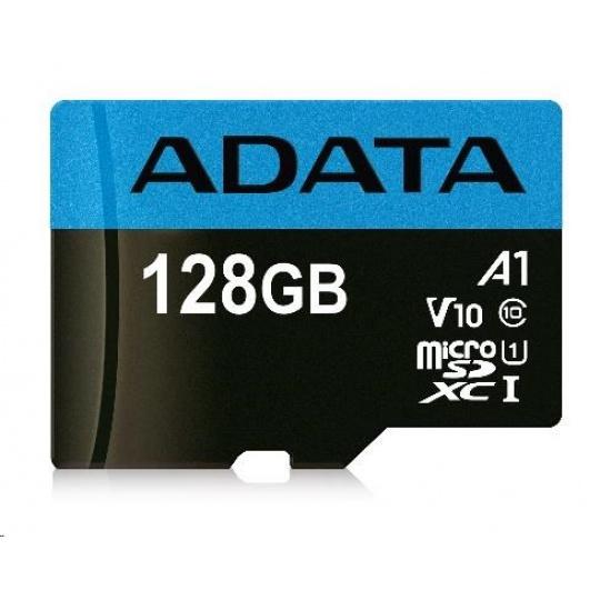ADATA MicroSDXC karta 128GB Premier UHS-I Class 10 + adaptér