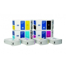 HP 80 Magenta DJ Ink Cart, 350 ml, C4847A