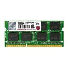 SODIMM DDR3 4GB 1333MHz TRANSCEND JetRam™, 256Mx8 CL9