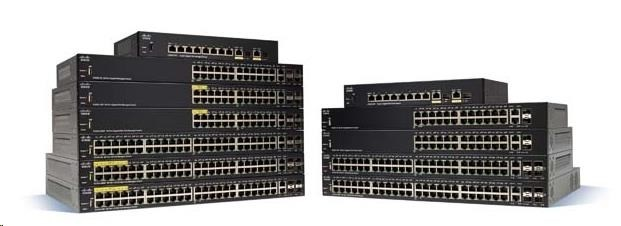 Cisco switch SG250X-24P, 24x10/100/1000, 2x10GbE, 2xSFP+, PoE