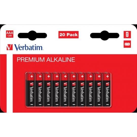 VERBATIM  AAA Alkalická Baterie 20 Pack / LR03