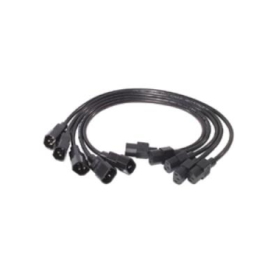 APC Power Cord Kit, 10A, 100-230V, 2', (5) C13 to C14