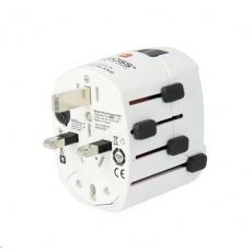SKROSS Cestovní adaptér PRO, 6.3A max., uzemněný, univerzální pro celý svět