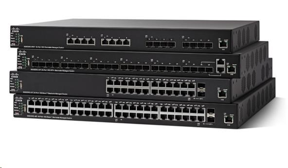 Cisco switch SG550X-24P, 24x10/100/1000, 2x10GbE SFP+/RJ-45, 2xSFP+, PoE