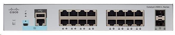 Cisco Catalyst 2960L-16PS-LL, 16x10/100/1000, 2xSFP, PoE