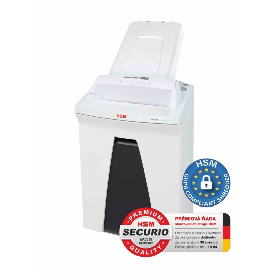 HSM skartovač Securio AF300 (řez: Kombinovaný 4,5x30mm | vstup: 240mm | DIN: P-4 (3) | papír, sponky, plast. karty, CD)