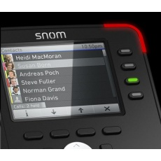 "Snom IP telefon D765, 12 SIP, 3,5"" barevný LCD, 10/100/1000 Mbps, Wi-Fi, BT, USB, PoE"
