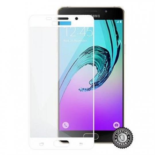 ScreenShield ochrana displeje Tempered Glass pro Samsung A510 Galaxy A5 (2016), White (kovový okraj)