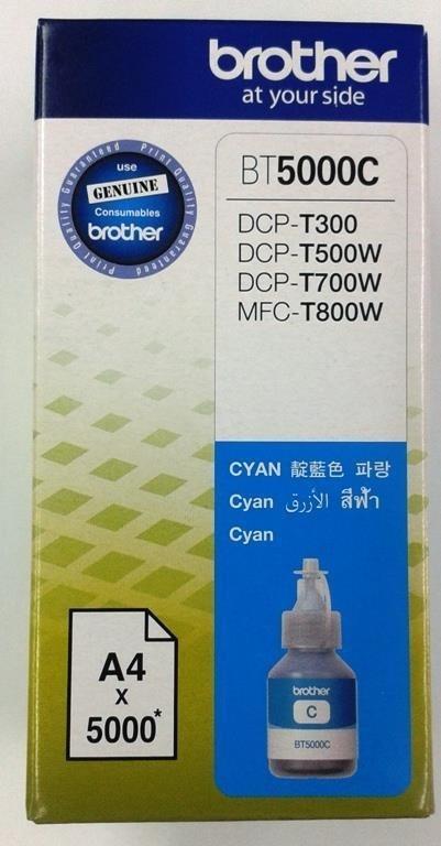 BROTHER INK BT-5000C cyan T300, T310, T500W, T510W, T700W, T710W, cca 5000