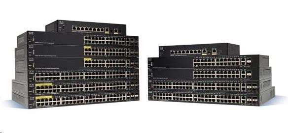 Cisco switch SG350-52P 48x10/100/1000, 2xSFP, 2xGbE SFP/RJ-45, PoE