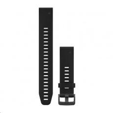 Garmin řemínek QuickFit 20, silikonový, dlouhý, černý