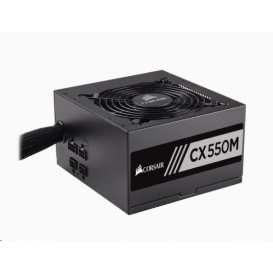 CORSAIR zdroj, CX550M-80 PLUS® Bronze Certified PSU (ATX, 550W, Semi-modular)