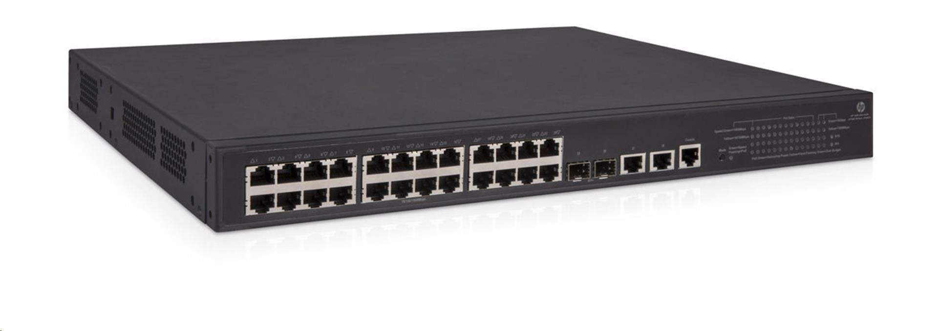 HPE OfficeConnect 1950 24G 2SFP+ 2XGT PoE+ Switch +