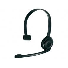 SENNHEISER PC 2 CHAT black (černý) headset - jednostranné sluchátko s mikrofonem POŠKOZEN OBAL