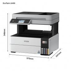 EPSON tiskárna ink EcoTank L6490, 4v1, A4, 1200x4800dpi, 37ppm, USB, Duplex, 3 roky záruka po registraci
