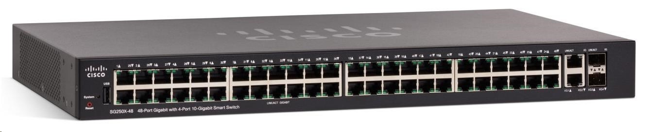 Cisco switch SG250X-48, 48x10/100/1000, 2x10GbE, 2xSFP+
