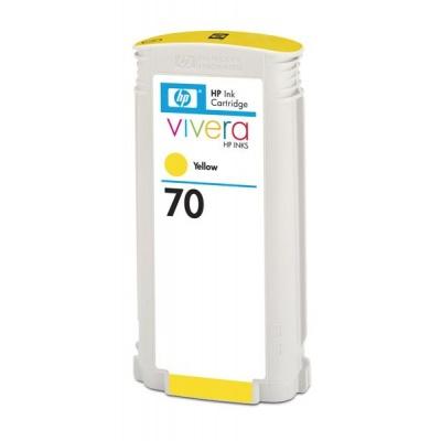 HP 70 Yellow DJ Ink Cart, 130 ml, C9454A