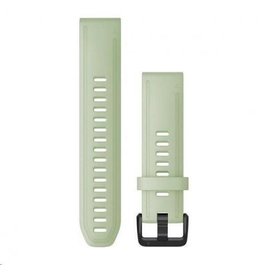 Garmin řemínek pro fenix6S - QuickFit 20, silikonový, mentolový, černá přezka
