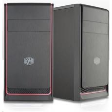 Cooler Master case MasterBox E300L, červený rámeček, Micro-ATX, 2x USB 3.0, bez zdroje