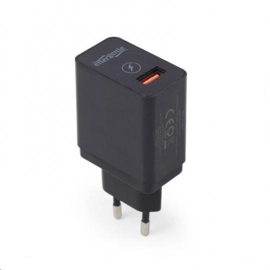GEMBIRD rychlonabíječka USB QC3.0, 1x USB, 1,5A, quick charge, černá