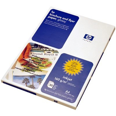 HP Professional Glossy Inkjet Paper-50 sht/A4/210 x 297 mm,  180 g/m2, C6818A