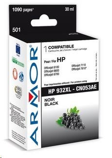 ARMOR cartridge pro HP Officejet 6100, 6600, Black (CN053AE)