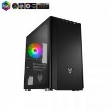 Fortron skříň Micro ATX CST310 Black, průhledná bočnice, 1 x A. RGB LED ventilátor