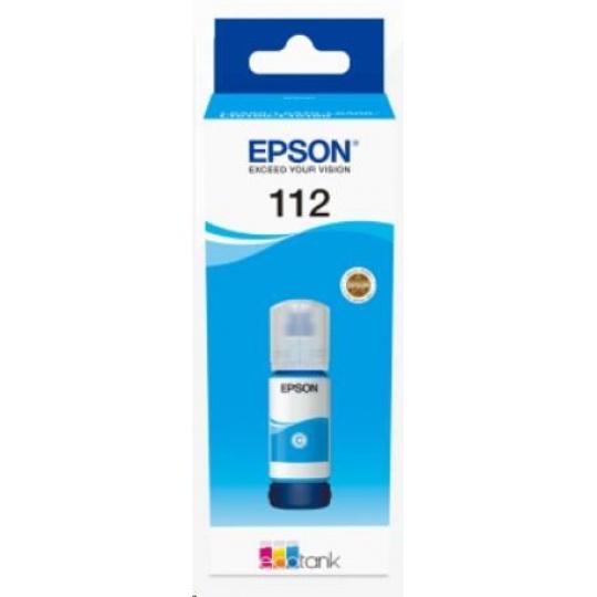 EPSON ink bar 112 EcoTank Pigment Cyan ink bottle