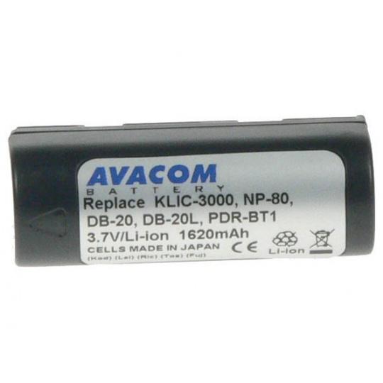 AVACOM Fujifilm NP-80, Kodak KLIC-3000, Ricoh DB-20 Li-Ion 3.7V 1700mAh 6,3Wh