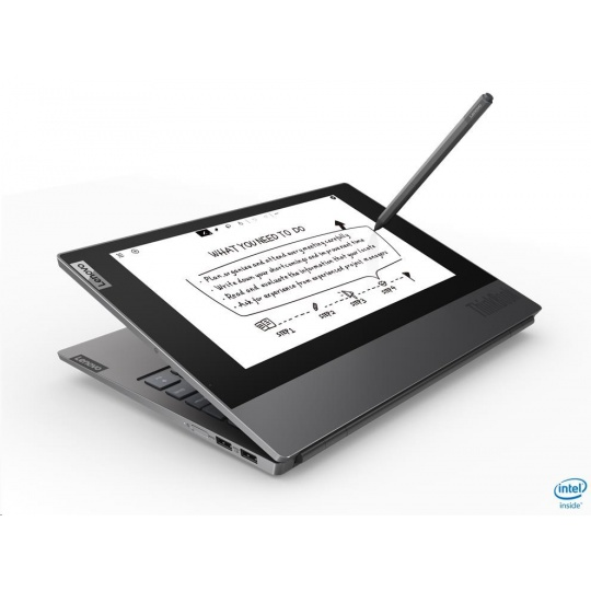 "LENOVO ThinkBook Plus - i7-10710U@1.1GHz,13.3"" FHD IPS mat+10.8"" E Ink FHD Touch,16GB,512SSD,HDMI,USB-C,W10P,1r carryin"