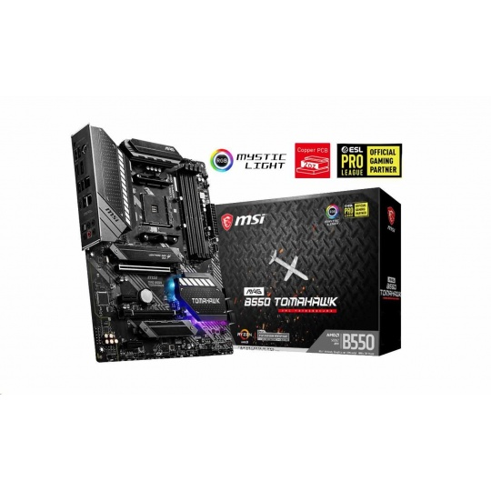 MSI MB Sc AM4 MAG B550 TOMAHAWK, AMD B550, 4xDDR4, VGA, ATX
