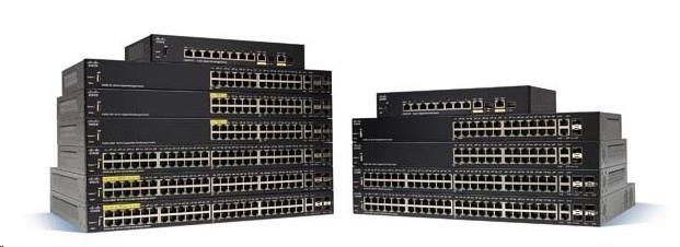 Cisco switch SG250X-24, 24x10/100/1000, 2x10GbE, 2xSFP+