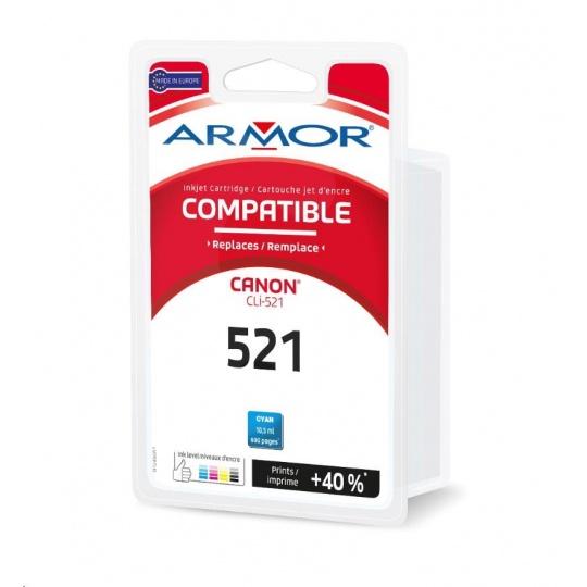ARMOR cartridge pro CANON iP 3600/4600 modrá / Cyan s čipem (CLI521C) 10.5ml, 715 stran