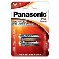 PANASONIC Alkalické baterie Pro Power LR6PPG/2BP AA 1,5V (Blistr 2ks)