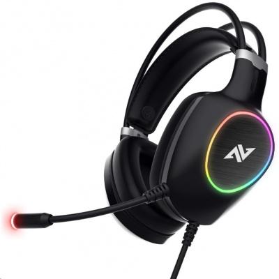 ABKONCORE Herní sluchátka CH55 Virtual, 7.1, černá