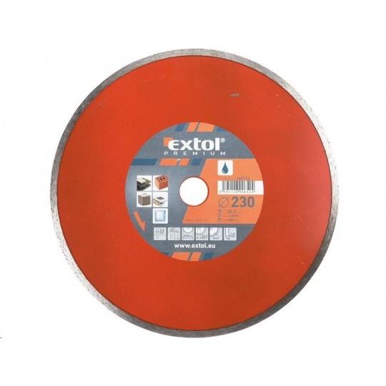 Extol Premium (108735) kotouč diamantový řezný celoobvodový, 230x22,2mm, mokré řezání