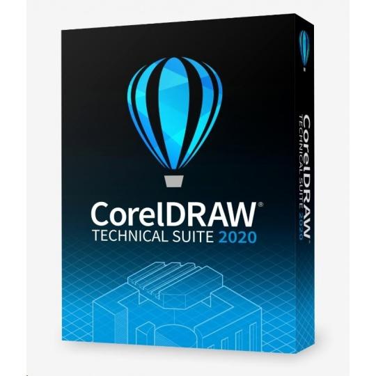 CorelDRAW Technical Suite 2020 Business Single User Upgrade License (Single User) EN/DE/FR/ES/BR/IT/CZ/PL/NL