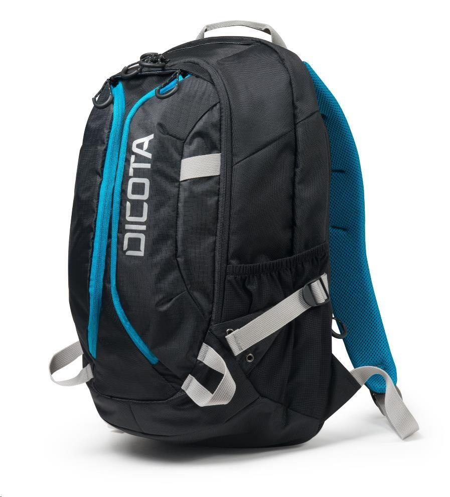 DICOTA Backpack Active 14-15.6, black/blue